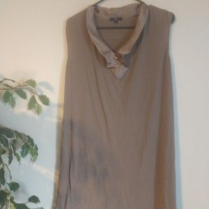 Gap beige sleeveless dress size